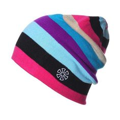 Mens and Womens Colorful Design Print Knit Beanie