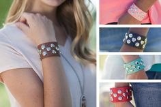 STUDDED CUFFS - 5 COLORS!  Add A Little Edge To Any Outfit! Available In 5 Colors!  STARTING AT    67% OFF