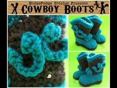 Crochet With HodgePodge: Cowboy Boots!! – HodgePodge Crochet