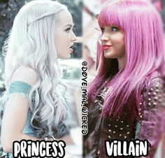 princess or villain ? Descendants Pictures, Descendants Characters, Disney Channel Descendants, Disney Descendants 3, Descendants Cast, Disney Channel Stars, Funny Disney Memes, Disney Jokes, Cameron Boyce
