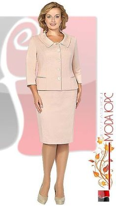Fashionable suits for full ladies of the Belarusian company Fashion-Urs. Fall 2015 - Fashionable suits for full ladies of the Belarusian company Fashion-Urs. Dress Suits, I Dress, Suits For Women, Clothes For Women, Ladies Suits, Classy Suits, Business Attire, Work Attire, Office Outfits