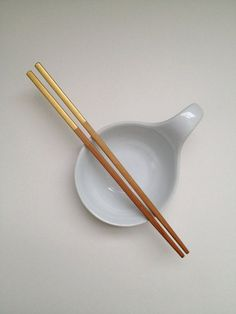 Painted Bamboo Chopsticks Metallic Gold by DesignerDwellings - on Etsy - Eat in Style!