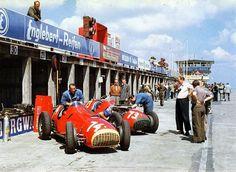 1951 GP Niemiec (#74 Jose Froilan Gonzalez & # 73 Piero Taruffi) Ferrari 375