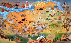 Illustrated Tibet map