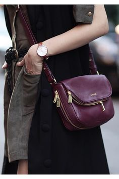 """""""Maroon followed me on #NYFW to the last day with @fossil as their #FossilPartner with @refinery29 #CallingAllCurious"""""""