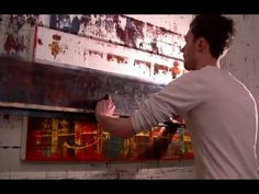 Abstract Oil Painting with large squeegees - Nicky Henderson of Painting Videos, Mixed Media Canvas, Oil Painting Abstract, Art Therapy, Craft Tutorials, Canvas Art, Watch, Canvases, Paintings