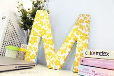 Ultimate Guide to DIY Decorative Monogram Letters - 13 ideas of how to craft your own alphabet decor, including how to cover letters with fabric  #plaidcrafts #diy #crafts
