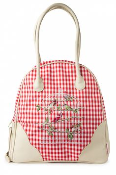 I love I need I want...Blutsgeschwister - Weekender Birdcage Red Vichy #topvintage <3