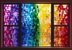Vidrieras con papel de colores celofán