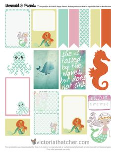 Free Mermaid and Friends Planner Printable | Victoria Thatcher
