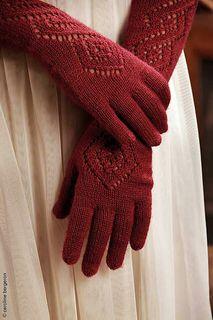Fine long red cap gloves: Ravelry: Farinelli pattern by Ysolda Teague Crochet Mittens, Crochet Gloves, Knit Crochet, Lace Patterns, Knitting Patterns Free, Knitting Ideas, Fingerless Mitts, Knitting Yarn, Knitting Needles