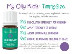TummyGize is a relaxing, quieting blend that can be applied to little tummies.