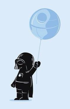 baby darth vader cutest ever! This would have been cute for one of our boys rooms when they were younger.we r total Star Wars junkies! Star Wars Love, Star War 3, Death Star, Amour Star Wars, Star Wars Film, The Force Is Strong, Star Wars Party, Fan Art, Love Stars