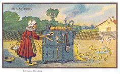 100 Years Ago, French Artists Predicted The Future With Eerie Accuracy. These postcards from France in 1900 show an artistic vision of what they thought the year 2000 would look like, including factory farming, RVs, and even Roombas (seriously). Interesting Speech Topics, Paris 1900, France, Bright Future, Illustrations, French Artists, What Is Life About, 21st Century, Underwater