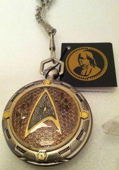 STAR TREK FRANKLIN MINT PRECISION POCKET WATCH NEW IN BOX W/ CASE SUPER RARE | the Star Trek Collectionary