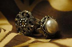 DIY Rings - Button Rings