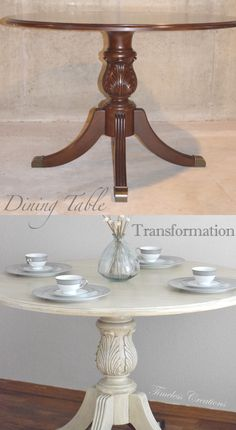 Annie Sloan Chalk paint gave this ornate table a beautiful makeover! | Timeless Creations, LLC