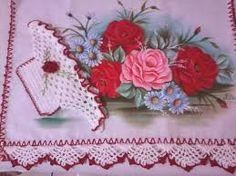 Resultado de imagem para panos de prato com cestas de croche
