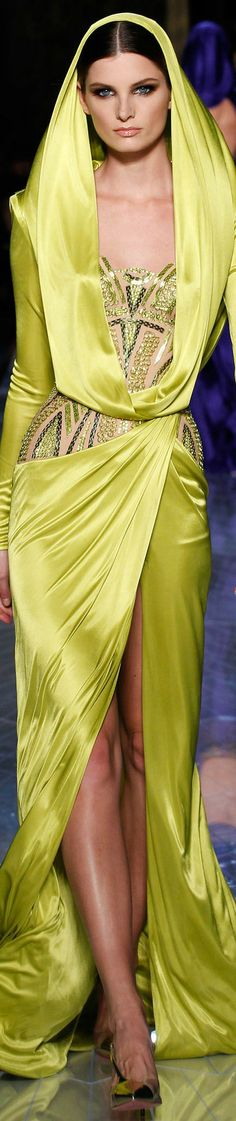 SPRING 2014 COUTURE Atelier Versace #yellow
