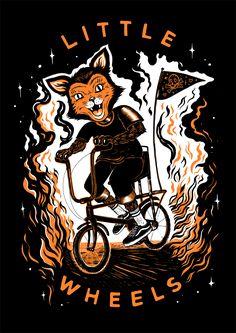 "poultergeist: "" (via Little Wheels Halloween Shirt on Behance) """
