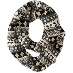 Muk Luks Women's Heritage Chunky Fairisle Eternity Scarf ($25) ❤ liked on Polyvore featuring accessories, scarves and chunky scarves