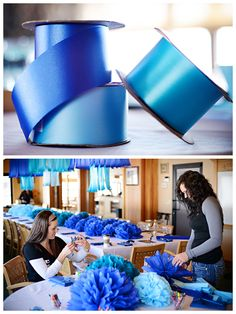 Fun blue theme party by Events by Design in Bemidji .  © Purrington Photography Use different shades of blue