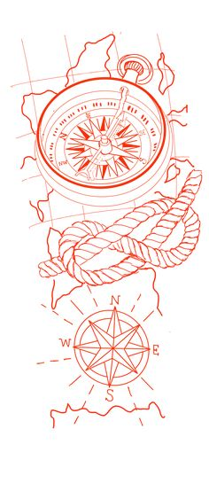 Tattoo Stencil Designs, Half Sleeve Tattoo Stencils, Half Sleeve Tattoos Sketches, Koi Tattoo Sleeve, J Tattoo, Clock Tattoo Design, Compass Tattoo Design, Tattoo Sleeve Designs, Pirate Compass Tattoo