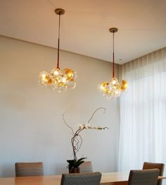 Gold Bubble Chandelier by Jean Pelle