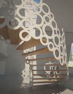 Beautiful stair surround. #stairs #circle