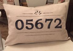 Custom Zip Code Pillow by TulipTreeDesignsNC on Etsy Handmade Home Decor, Handmade Gifts, Zip Code, Tree Designs, Boss Lady, Tulip, Bedrooms, Wraps, Throw Pillows