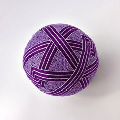 Lavender Japanese Temari Ball by SpotsandDotsDesign on Etsy, $40.00