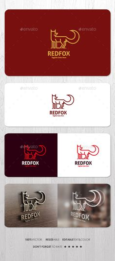 Red Fox Logo — Vector EPS #smartphone #creative • Available here → https://graphicriver.net/item/red-fox-logo/14627198?ref=pxcr