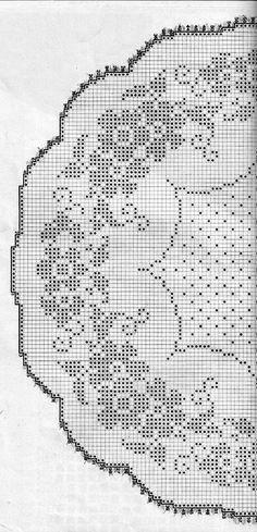 Annie's Crochet, Fillet Crochet, Crochet Doily Patterns, Crochet Designs, Crochet Doilies, Filet Crochet Charts, Crochet Tablecloth, Cross Stitch Flowers, Crochet Projects