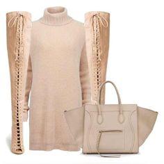 #ShareIG N U D E: Designer remix dress , Zigi boots , Cèline bag