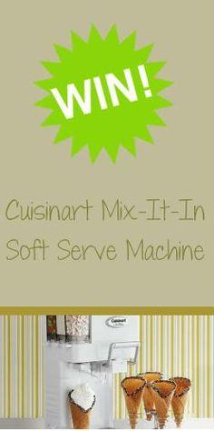 #Win a #Cuisinart #IceCream Maker this #Summer!
