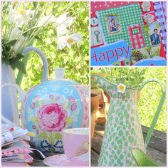 """""""allemaal kleurtjes mijn verzameling pastel servies Petrus Regout en smashbook avontuur.: tuin"""