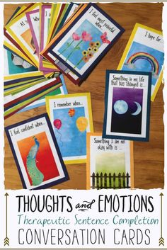 Counseling intervention tool to help young people talk about their thoughts, feelings, and emotions. Great for rapport building and encouraging clients and students voice their stories.