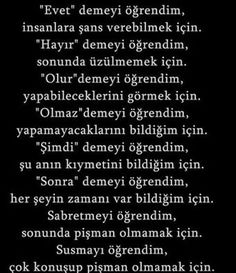 Güzel sözler Wise Quotes, Famous Quotes, Words Quotes, Inspirational Quotes, Sayings, Weird Dreams, Thing 1, English Quotes, Change Quotes