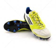 Botas de fútbol Adidas F50 Adizero TRX FG ADULTO   White / Lab Lime 176,95€ (V21433) #botas #futbol #adidas #soccer #boots #football #footballprice