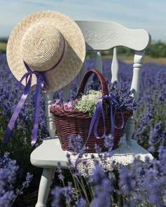 Solve Flowers and a chair jigsaw puzzle online with 20 pieces Lavender Cottage, French Lavender, Lavender Fields, Lavender Color, Lavender Flowers, Victoria Magazine, Lavander, All Things Purple, Happy Weekend