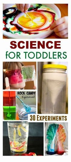 30 science experiments for toddlers! Great ideas for growing little scientist!