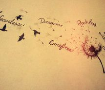 Inspiring picture dream, birds, dandelion, drawing. Resolution: 500x375 px. Find the picture to your taste!