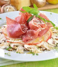 Parmesan, Carpaccio, Tuna, Prosciutto, Stuffed Mushrooms, Appetizers, Food, Kitchens, Salad