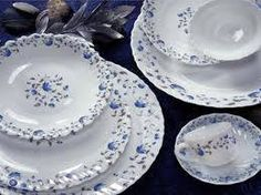 Manal river Blu! - what a fresh dinnerware collection! Manal Opal Ware. Made In U.A.E.