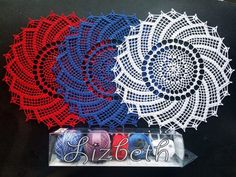 Pinwheel doily is my red white blue crochet project this year. Tatting Patterns Free, Free Crochet Doily Patterns, Filet Crochet Charts, Crochet Doilies, Crochet Ideas, Crochet Stitches, Crochet Thread Size 10, Crochet Round, Crochet Home