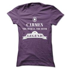 CARMEN, the woman, the myth, the legend - #shirt diy #cool tshirt. BUY IT => https://www.sunfrog.com/Names/CARMEN-the-woman-the-myth-the-legend-ztiukcenqj-Ladies.html?68278