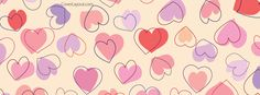 Colorful Hearts Pink Purple Facebook Cover CoverLayout.com