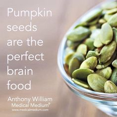 Pumpkin seeds are the perfect brain food smile emoticon Health Diet, Health And Nutrition, Health And Wellness, Health Fitness, Nutrition Guide, Brain Health, Healthy Tips, Healthy Snacks, Healthy Eating