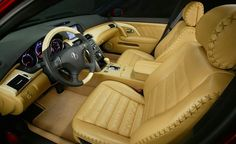 Auto Upholstery - The Hog Ring - Laced Leather French Seam - Acura RL A-Spec