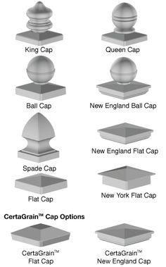 Newel post cap options